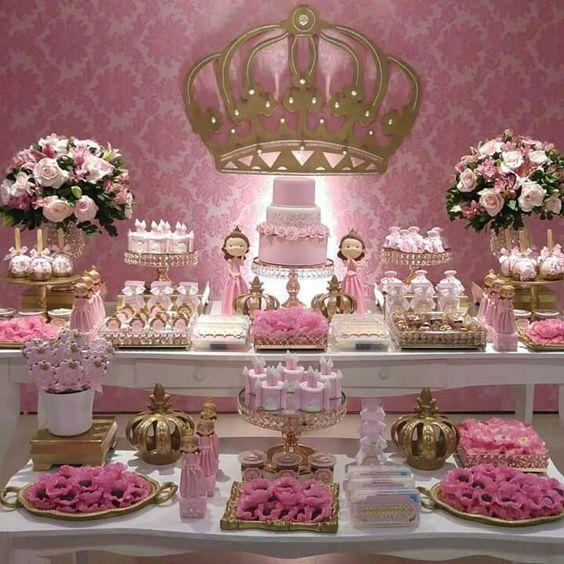Ideas para una fiesta de coronitas en rosa