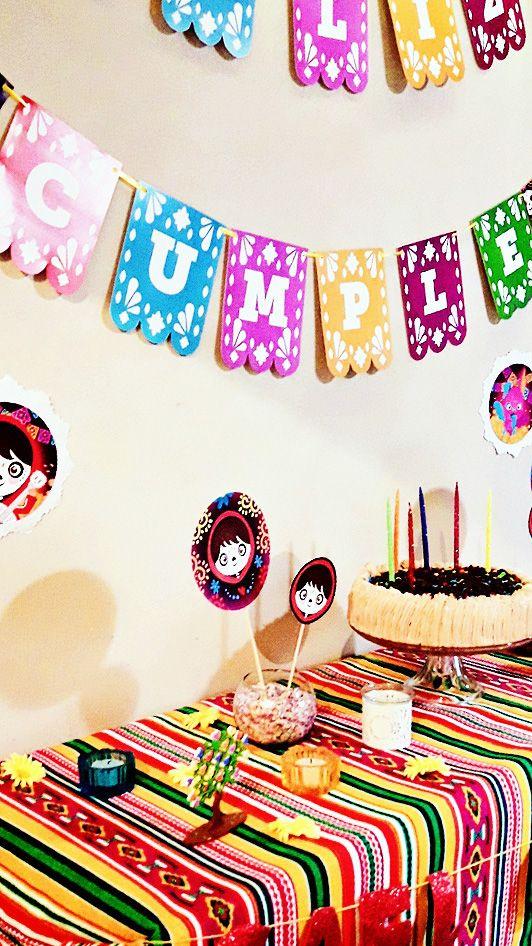 Detalles de las decoraciones imprimibles de la temática Coco por Todo Bonito