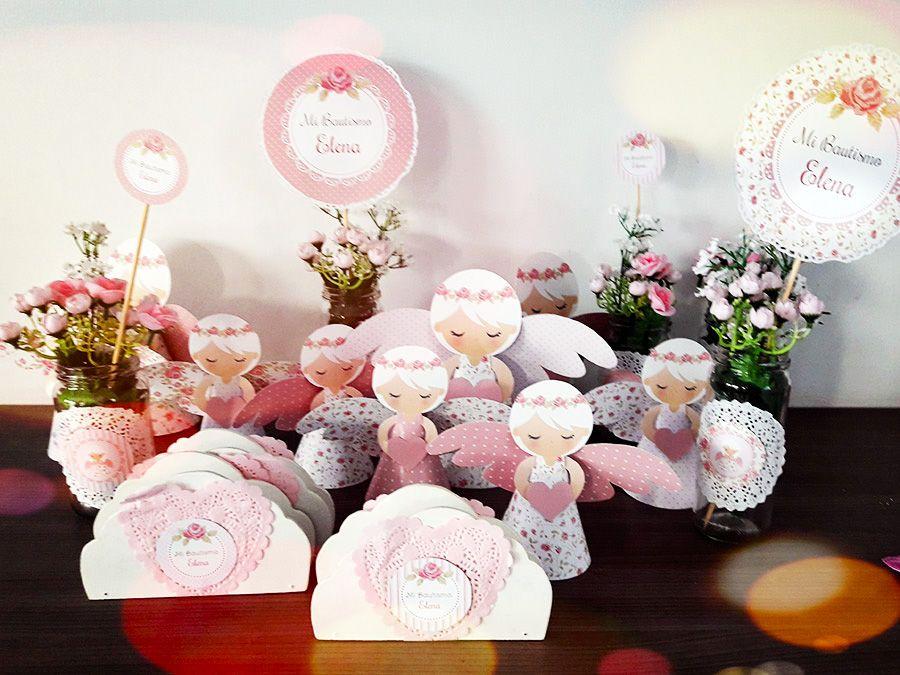 Angeles e imagénes decorativas con diseño Shabby Chic rosa de Todo Bonito
