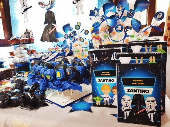 Santino y su inolvidable cumple de 5 con imprimibles Star Wars