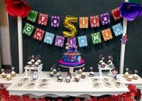 Mia y un colorido cumpleaños con la temática COCO
