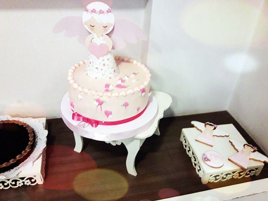 Angeles 3D en torta Shabby Chic rosa de Todo Bonito