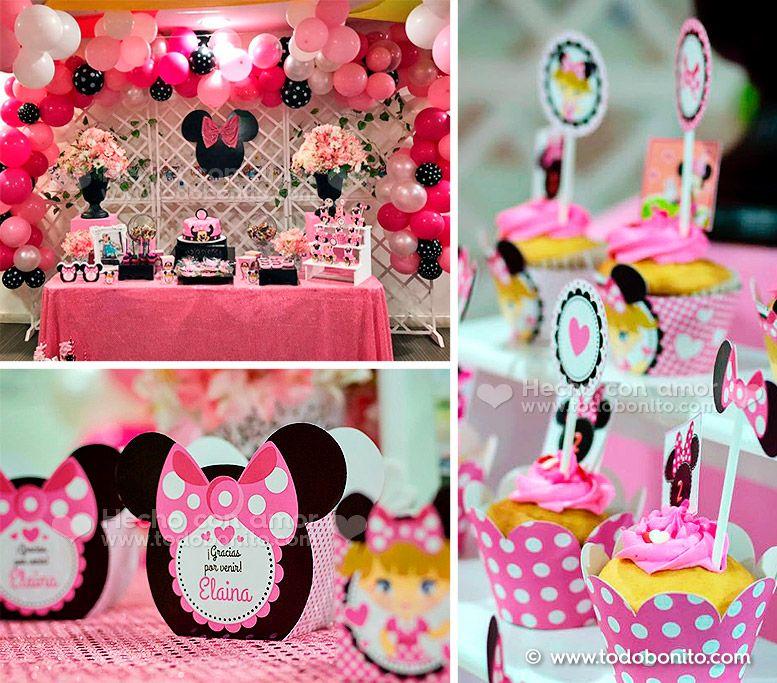 Ideas cumpleaños Minnie Mouse rosa