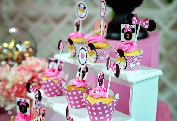 Wrappers y Toppers imprimibles para cumpleaños kit orejas de minnie rosa