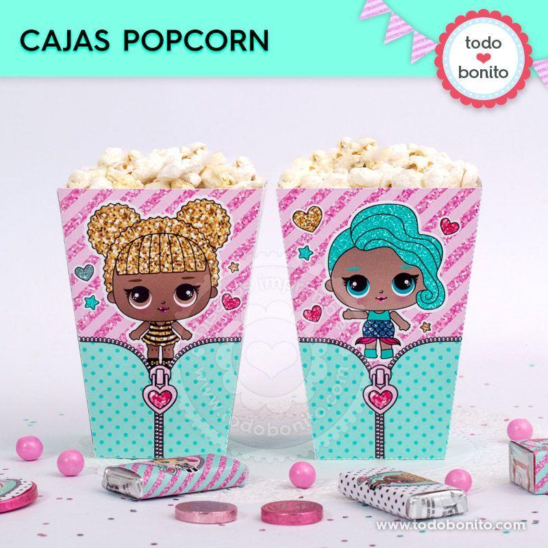 Cajas popcorn para imprimir de LOL
