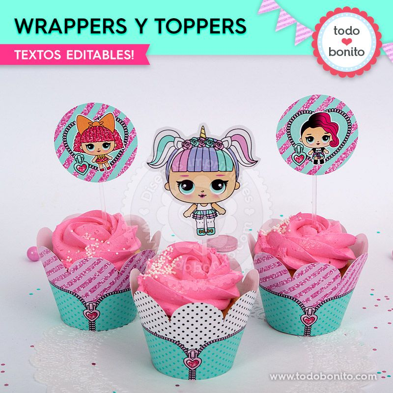 Wrappers y toppers para imprimir de LOL
