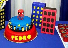 Diseño imprimible del Hombre Araña para el cumple de Pedro