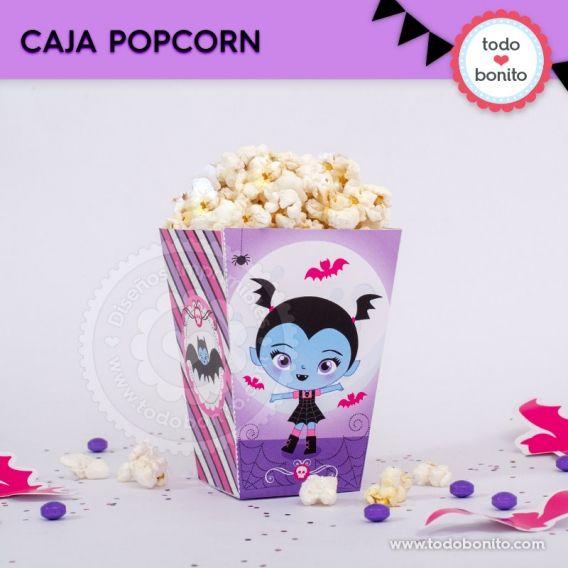 Caja popcorn con la temática de Vampirina imprimible
