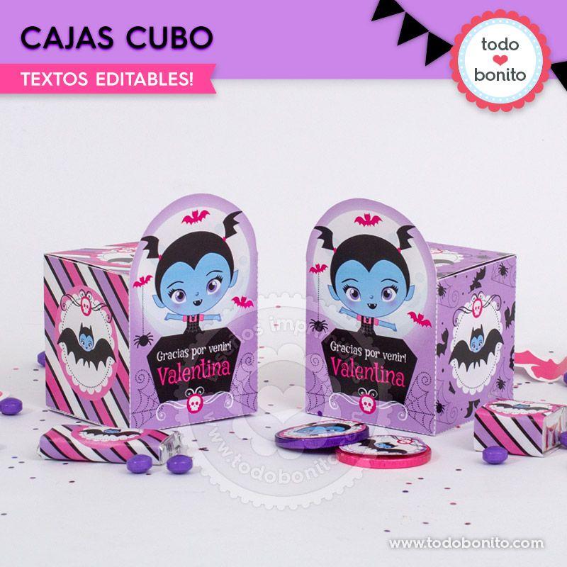 Cajas cubo de Vampirina imprimibles