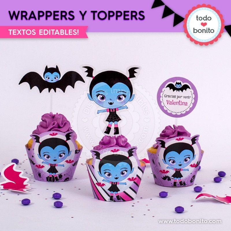 Wrappers y toppers para imprimir de Vampirina