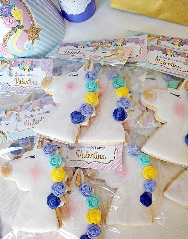 Galletitas de suvenir con diseños imprimibles unicornios de Todo Bonito