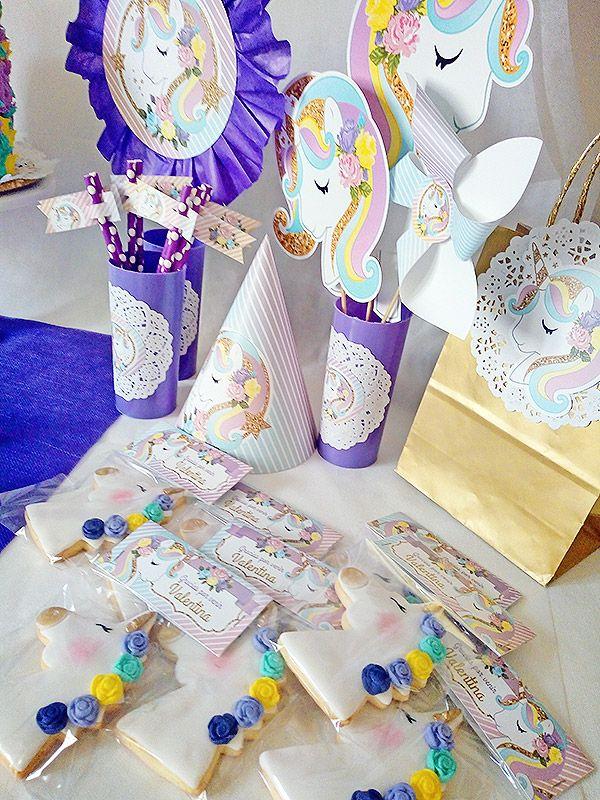 Decoraciones imprimibles unicornios de Todo Bonito