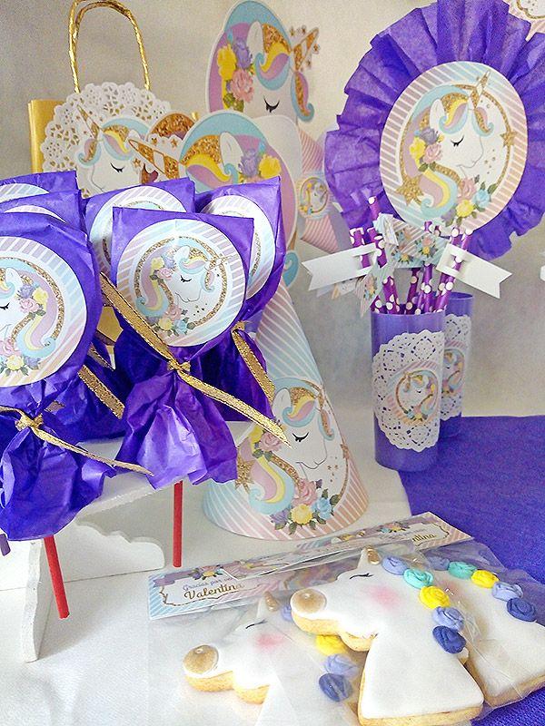 Hermosas decoraciones imprimibles de unicornio