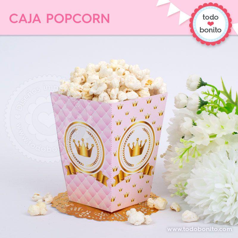 Caja Popcorn de Coronita imprimible