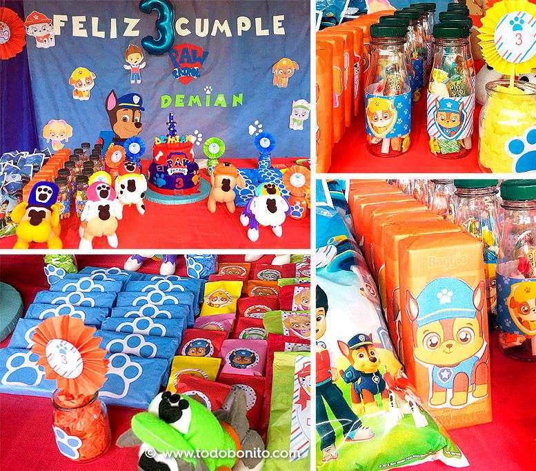Mesa dulce con Kits imprimibles Paw Patrol Todo Bonito
