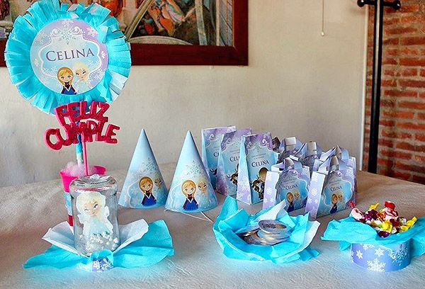 Decoraciones imprimibles de Frozen para cumpleaños