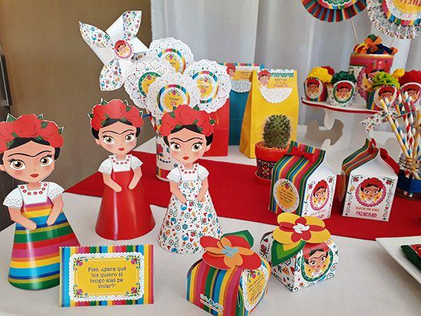 Muñequitas 3D y cajitas imprimibles de diseño Frida Khalo