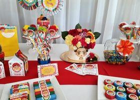 Hermosa ambientación estilo Frida Khalo para Trinidad