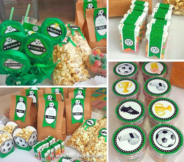 Cumpleaños con diseños imprimibles de fútbol