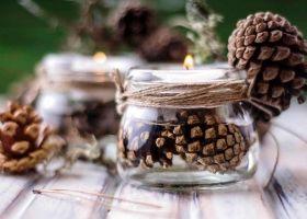 Ideas de decoración navideña con piñas de pino