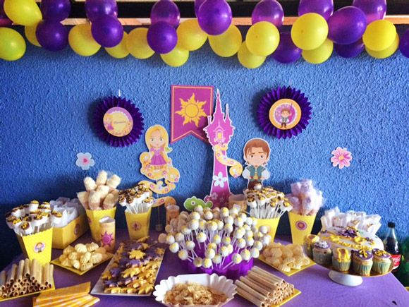 Decoraciones imprimibles de rapunzel de Todo Bonito