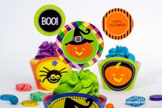 Imprimibles de Halloween en colores clásicos