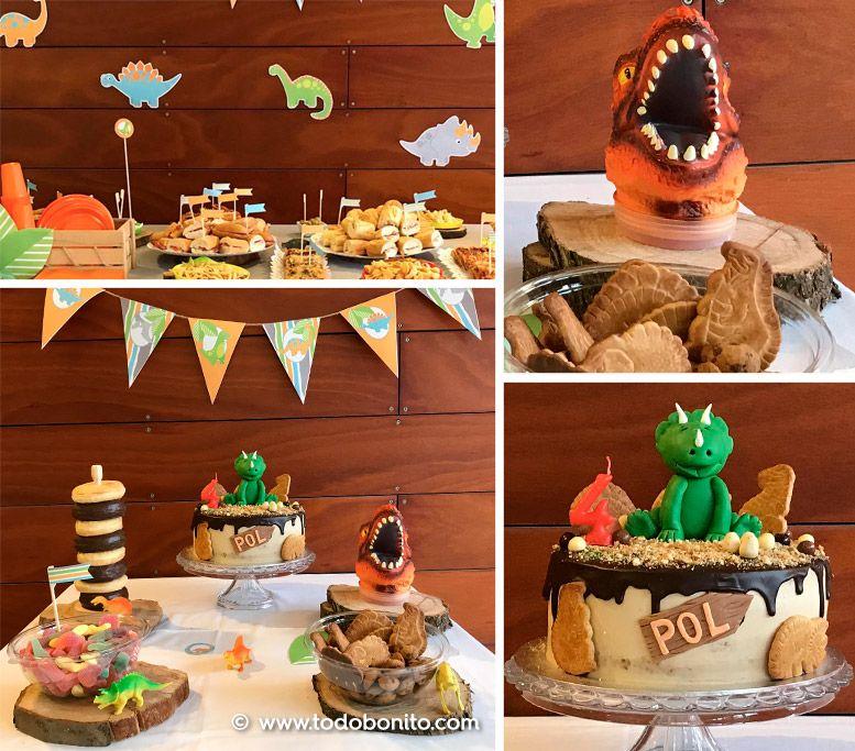 Diseño de dinosaurios para cumpleaños