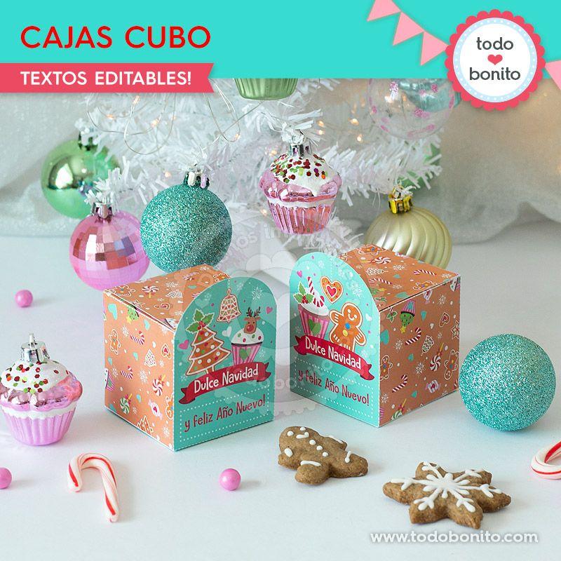 Cajas de Navidad para imprimir por Todo Bonito