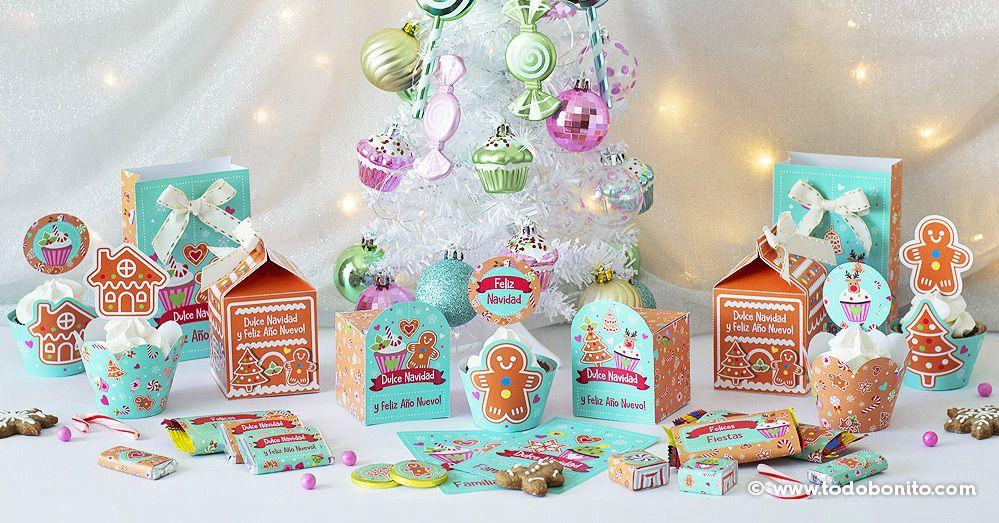 Delicioso árbol de Navidad con Nutella y galletas Oreo