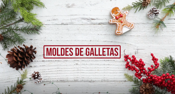 Moldes de galletas con chocolate