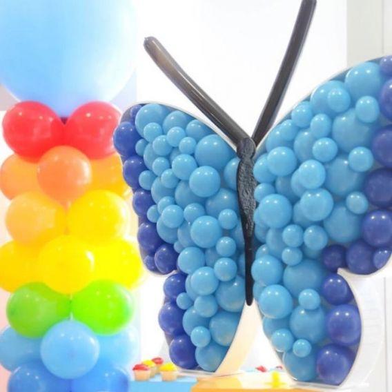 Decoración con globos técnica mosaico