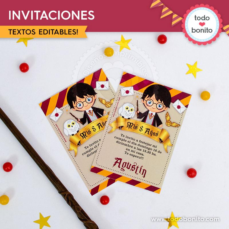 Kits Imprimibles De Harry Potter Para Tu Fiesta Mágica