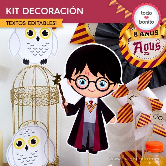 Decoración de cumpleaños de Harry Potter por Todo Bonito