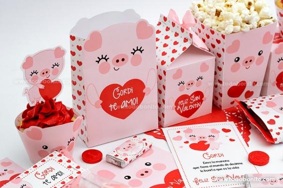 Decoraciones de San Valentín para imprimir por Todo Bonito