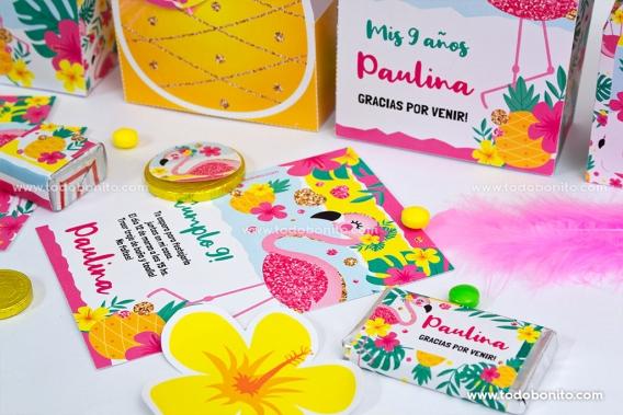 Kit imprimible de Flamencos y Ananá por Todo Bonito