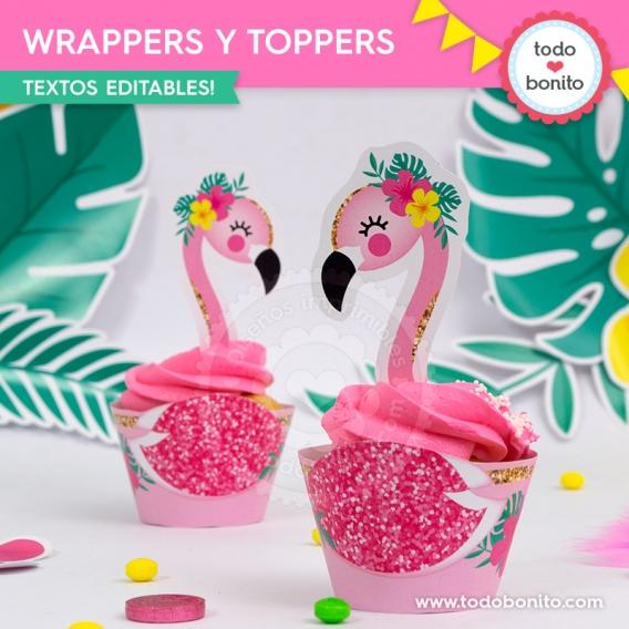 Cupcakes de Flamencos y Ananá por Todo Bonito