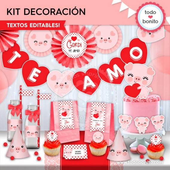 Kit imprimible de San Valentín por Todo Bonito