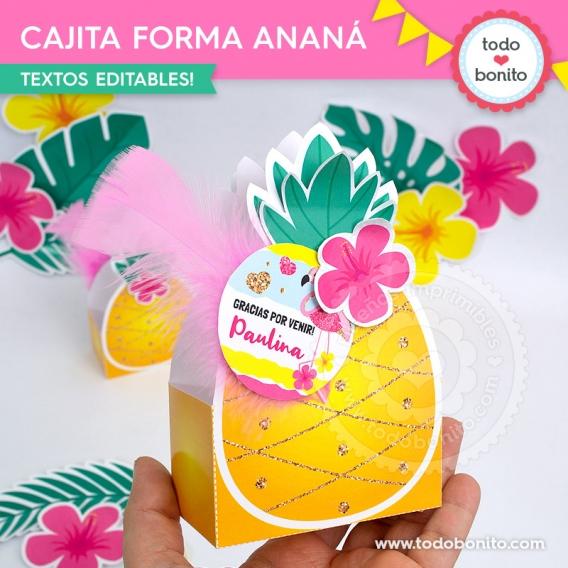 Cajita con forma de ananá por Todo Bonito