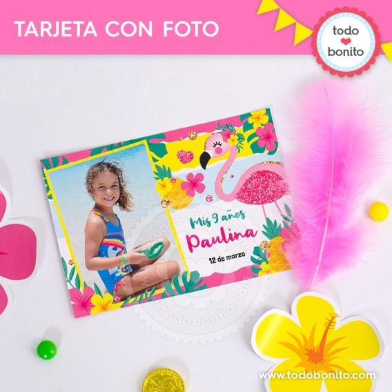 Souvenir con foto de Flamencos y Ananá por Todo Bonito