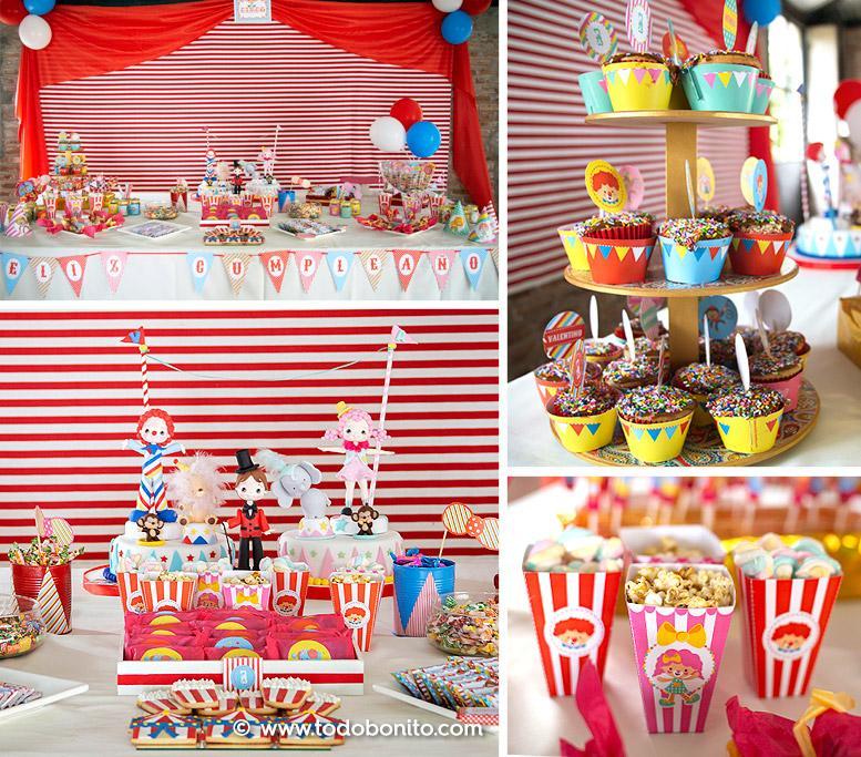 Mesa dulce primer añito y Bautismo de Circo por Todo Bonito