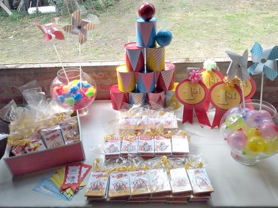 Souvenirs de circo niño y niña por Todo Bonito