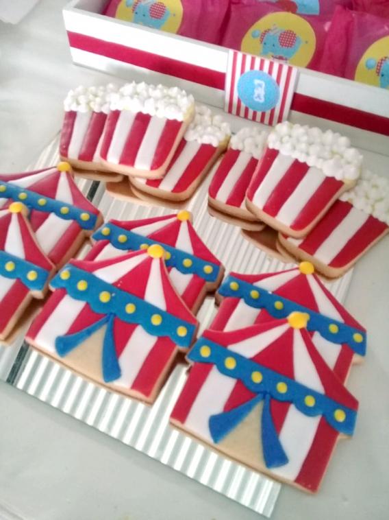Galletas de Circo para mellizos por Todo Bonito
