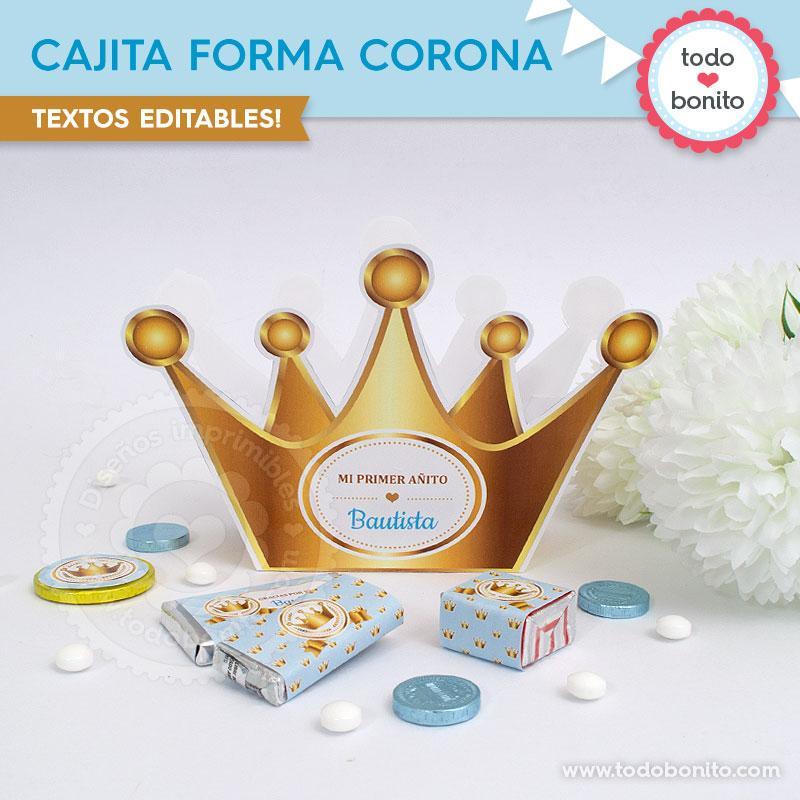 Cajita en forma de corona imprimir de Todo bonito