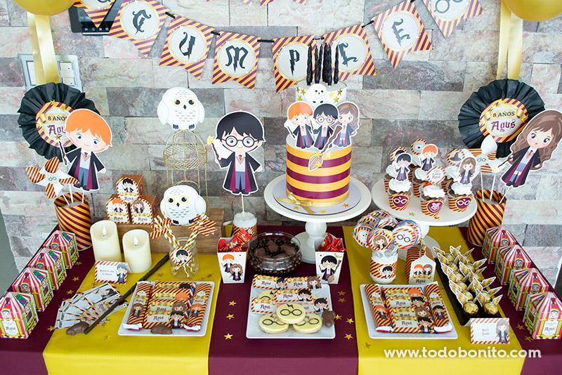 Ideas cumpleaños Harry Potter por Todo Bonito