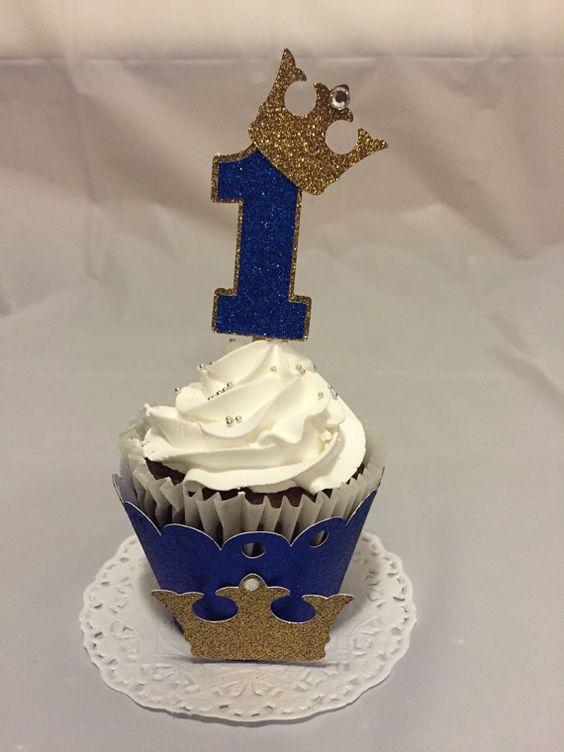 Cupcake de Corona para fiesta de niños