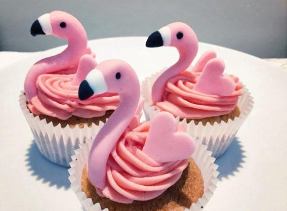 Cupcakes de flamenco paso a paso