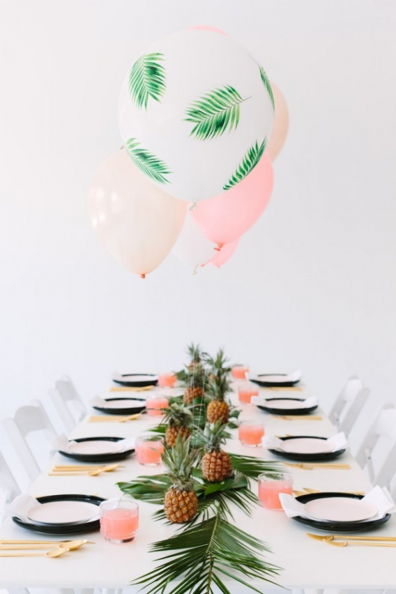 Como decorar globos para tu fiesta tropical