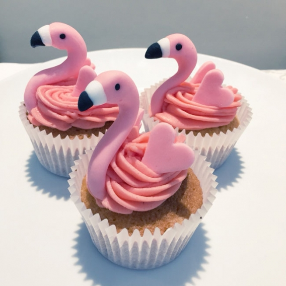Cupcakes de flamenco