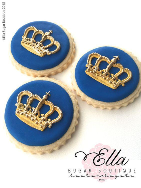 Decoración de galletas con temática de Corona