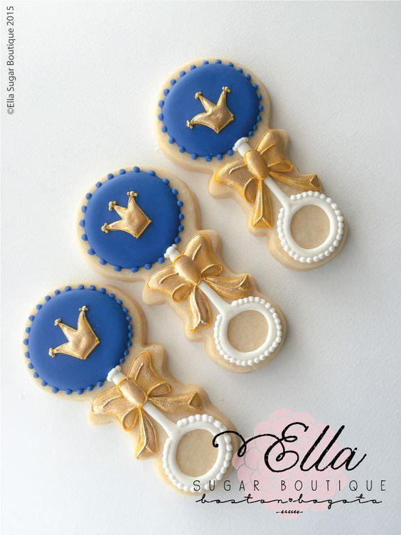 Galletas para fiesta decoradas con Coronitas